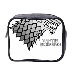 Winter Is Coming ( Stark ) 2 Mini Travel Toiletry Bag (two Sides) by Lab80