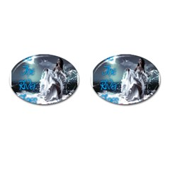 As The River Rises  Cufflinks (oval)