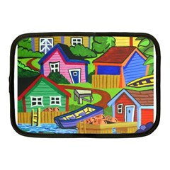 Three Boats & A Fish Table Netbook Case (medium) by reillysart