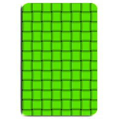 Bright Green Weave Large Door Mat by BestCustomGiftsForYou