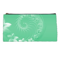 10   Light Green Flowers Pencil Case by BestCustomGiftsForYou