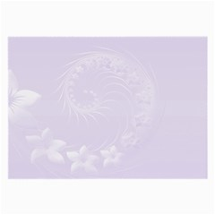 Pastel Violet Abstract Flowers Glasses Cloth (large) by BestCustomGiftsForYou