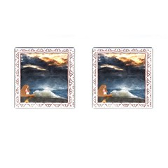 Stormy Twilight [framed] Cufflinks (square) by mysticalimages