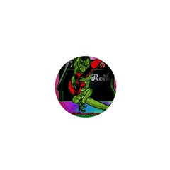 Rock Out Like An Iguana 1  Mini Button Magnet