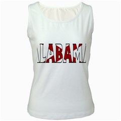 Alabama Womens  Tank Top (white) by worldbanners