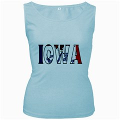 Iowa Womens  Tank Top (baby Blue) by worldbanners