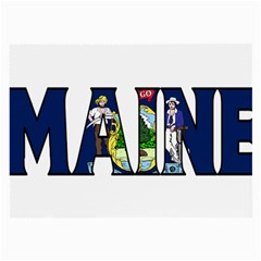 Maine Glasses Cloth (large) by worldbanners