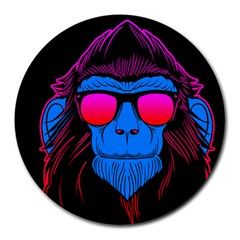One Cool Gorilla 8  Mouse Pad (round) by Contest1706705