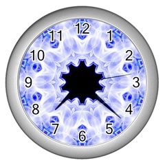 Smoke Art (5) Wall Clock (silver) by smokeart
