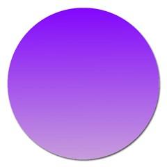 Violet To Wisteria Gradient Magnet 5  (round)