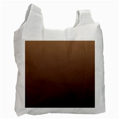 Chamoisee To Seal Brown Gradient Recycle Bag (one Side) by BestCustomGiftsForYou