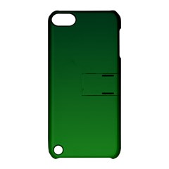 Dark Green To Green Gradient Apple Ipod Touch 5 Hardshell Case With Stand