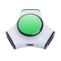 Pastel Green To Dark Pastel Green Gradient 3 Port Usb Hub