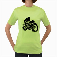 Full Speed Ahead! Womens  T-shirt (Green) by Contest1714654