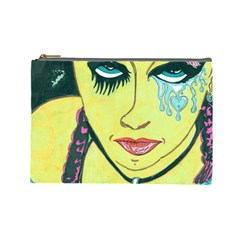 Missing You  Retro Cosmetic Bag (large) by JacklyneMae