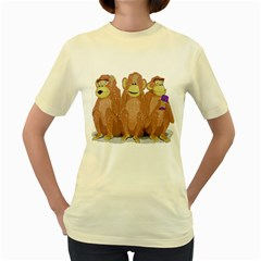 Monkeys, As Usual   Womens  T Shirt (yellow) by Contest1714697