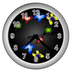 Butterfly Trail Wall Clock (silver) by Contest1553012