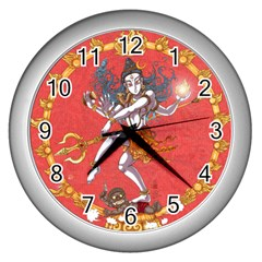 Shiva Wall Clock (silver) by Contest1732403