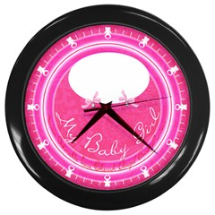 My Baby Girl Clock Wall Clock (black) by Contest993860