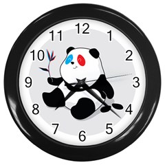Panda 3d Wall Clock (black) by Contest1732468