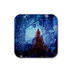Elegant Winter Snow Flakes Gate Of Victory Paris France Drink Coaster (square) by chicelegantboutique