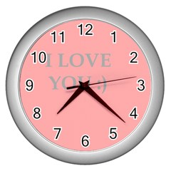 Love Wall Clock (silver) by Contest1610304