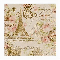 Floral Eiffel Tower Vintage French Paris Art Glasses Cloth (Medium, Two Sided) by chicelegantboutique