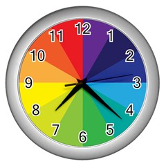 Colorful Wall Clock (silver) by Contest1732468