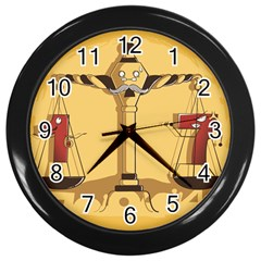 Oddly Even Wall Clock (black) by DesignsbyReg