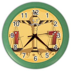 Oddly Even Wall Clock (Color) by DesignsbyReg