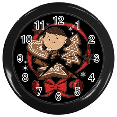 Holiday Wall Clock (black) by Contest1739117