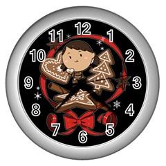 Holiday Wall Clock (silver) by Contest1739117