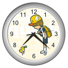 Quack Wall Clock (silver) by Contest1739121