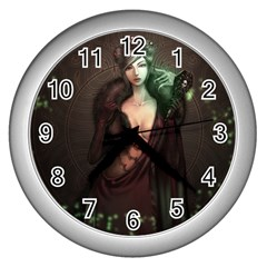 Lady In Red Wall Clock (silver) by Contest1706914