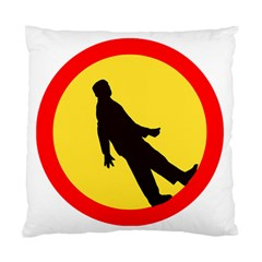 Walking Traffic Sign Cushion Case (single Sided)  by youshidesign