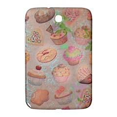 French Pastry Vintage Scripts Cookies Cupcakes Vintage Paris Fashion Samsung Galaxy Note 8.0 N5100 Hardshell Case  by chicelegantboutique