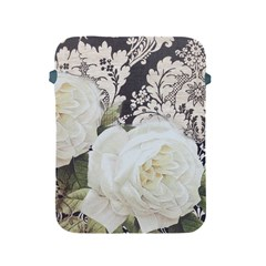 Elegant White Rose Vintage Damask Apple Ipad 2/3/4 Protective Soft Case by chicelegantboutique
