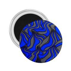 Foolish Movements Blue 2 25  Button Magnet