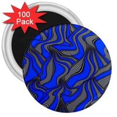 Foolish Movements Blue 3  Button Magnet (100 Pack)