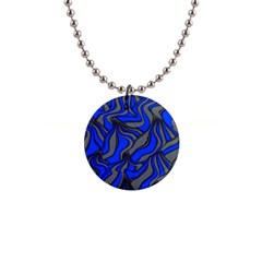 Foolish Movements Blue Button Necklace