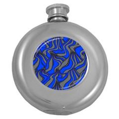 Foolish Movements Blue Hip Flask (round)