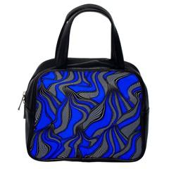 Foolish Movements Blue Classic Handbag (one Side)