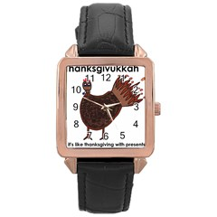 Turkey Rose Gold Leather Watch