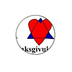 Heartstar Golf Ball Marker 4 Pack (for Hat Clip) by Thanksgivukkah