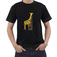 Giant Giraffe Mens' T Shirt (black)