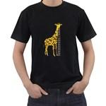 Giant Giraffe Mens' T-shirt (Black) Front