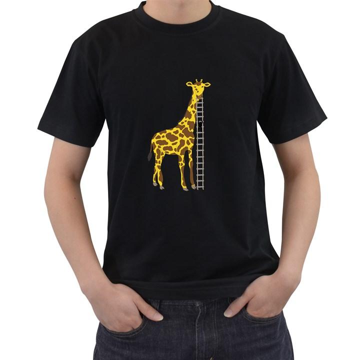 Giant Giraffe Mens' T-shirt (Black)