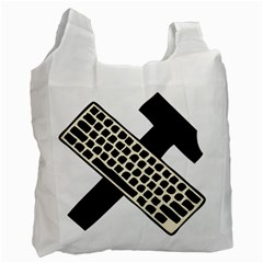 Hammer And Keyboard  Recycle Bag (one Side) by youshidesign