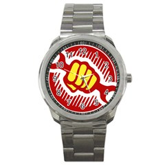 Power To The People Sport Metal Watch