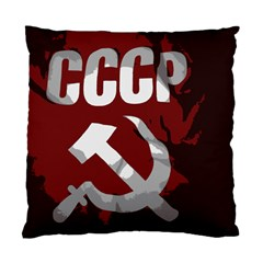 Cccp Soviet Union Flag Cushion Case (one Side) by youshidesign